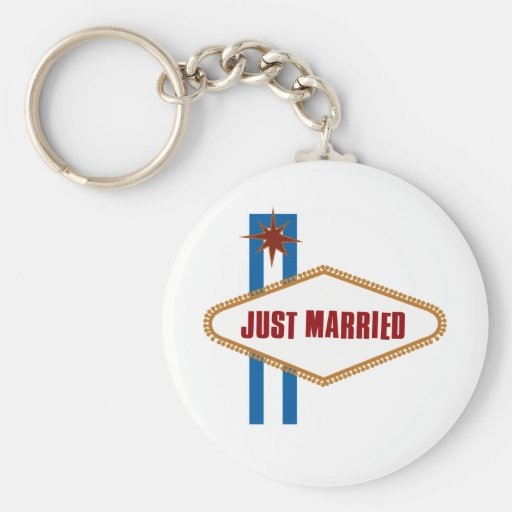 Just Married Key Chain