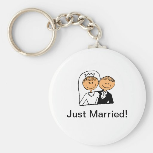 """Just Married"" keychain"