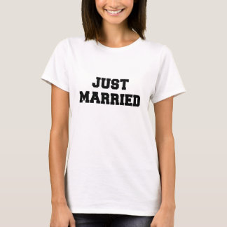 Just Married Ladies Baby Doll T-Shirt