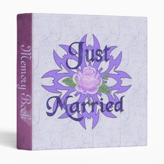 Just Married Lavender Rose Binder