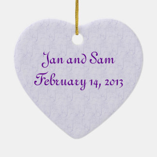 Just Married Lavender Rose Ceramic Ornament