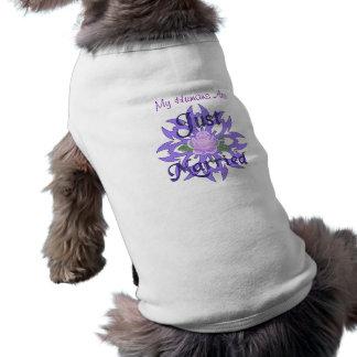 Just Married Lavender Rose Dog Clothing