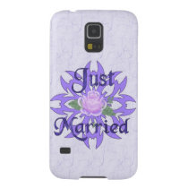 Just Married Lavender Rose Galaxy S5 Cover