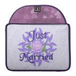 Just Married Lavender Rose MacBook Pro Sleeve