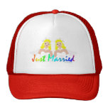 Just Married Lesbian Wedding Hats