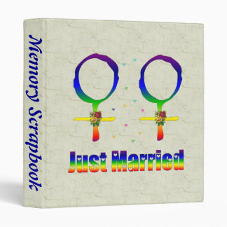 Just Married Lesbians 3 Ring Binder