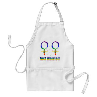 Just Married Lesbians Adult Apron