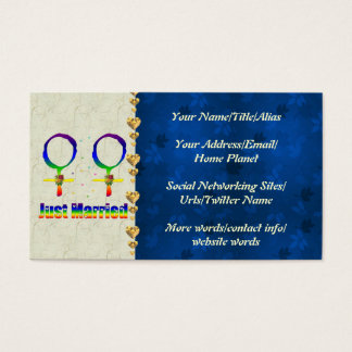 Just Married Lesbians Business Card