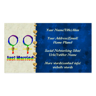 Just Married Lesbians Business Card Templates