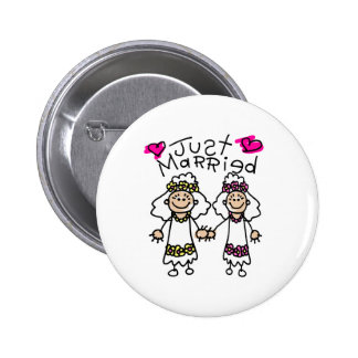 Just Married Lesbians Button