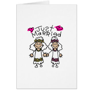 Just Married Lesbians Card