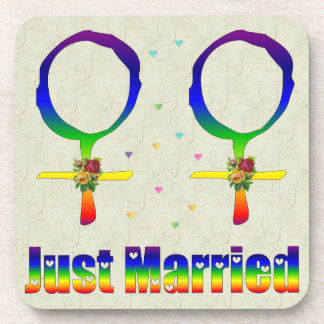 Just Married Lesbians Coaster