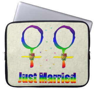 Just Married Lesbians Computer Sleeves