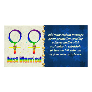Just Married Lesbians Photo Cards