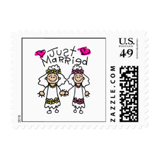 Just Married Lesbians Stamps
