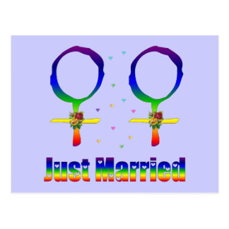 Just Married Lesbians Postcard