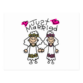 Just Married Lesbians Postcard