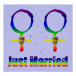 Just Married Lesbians Poster