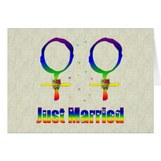Just Married Lesbians Stationery Note Card
