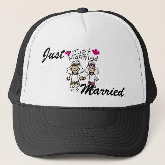 Just Married Lesbians Trucker Hat