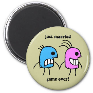 just married refrigerator magnets