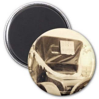 """Just Married"" 2 Inch Round Magnet"