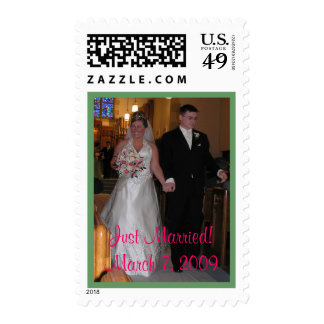 Just Married! March 7, 2009 Postage Stamp