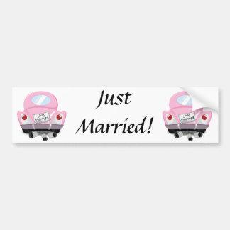 just+married,married+car,cartoon+marriage+car,marr bumper sticker