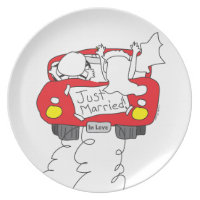 Just Married Melamine Plate