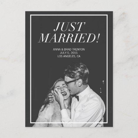 Just Married | Modern Photo Wedding Announcement