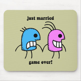just married mouse pads