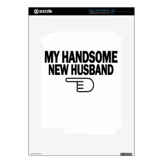 Just Married My Handsome New Husband T-Shirt png iPad 2 Skin