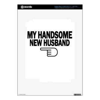 Just Married My Handsome New Husband T-Shirt png Decals For iPad 3
