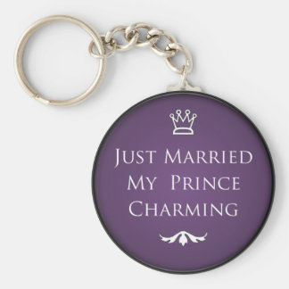 Just Married My Prince Charming Basic Round Button Keychain