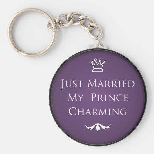 Just Married My Prince Charming Key Chain