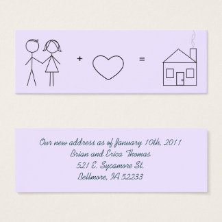 Just Married New Address Card