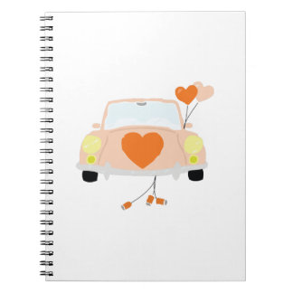 Just Married Spiral Notebooks