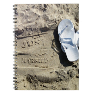 Just Married Spiral Notebook