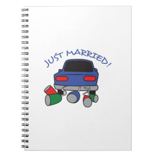 JUST MARRIED NOTEBOOKS