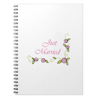 JUST MARRIED NOTEBOOK