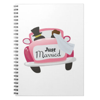 Just Married Spiral Note Book