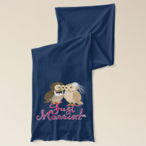 Just married Owls couple - pink Scarf