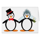 Just Married Pengos Greeting Card