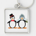 Just Married Pengos Key Chain
