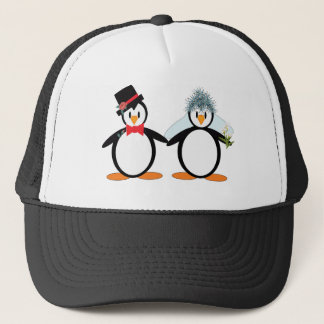 Just Married Pengos Trucker Hat