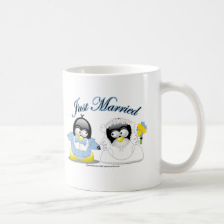 Just Married Penguins Coffee Mug