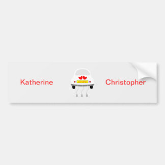 Just married personalised name bumper sticker car bumper sticker