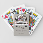 Just Married Personalized Bicycle® Playing Cards
