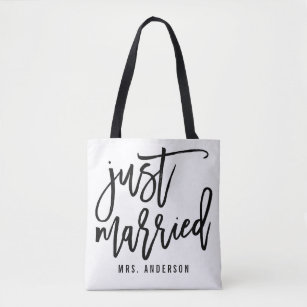 897ff3f92c Just Married Personalized Honeymoon Tote Bag