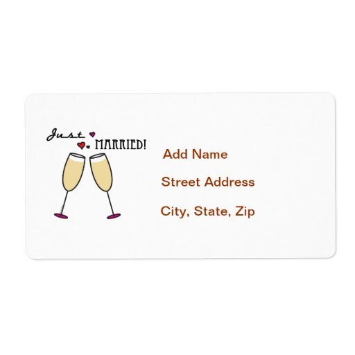 Just Married Personalized Shipping Label